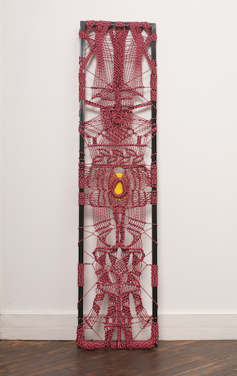 "Ranger One (rope, metal, plexiglass, 67"" x 16"" - 2015)"